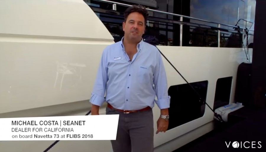 """""""The Absolute Voices"""". Discovering Navetta 73 with Michael Costa of SeaNet, the Absolute Yachts' dealer for California."""