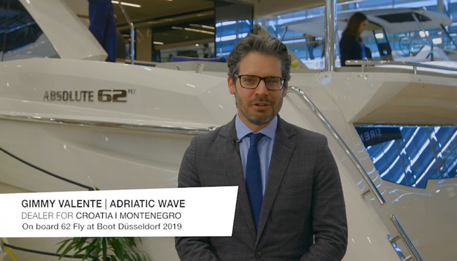 """THE ABSOLUTE VOICES"": AL BOOT DÜSSELDORF 2019 A BORDO DELLA 62 FLY CON GIMMY VALENTE DI ADRIATIC WAVE"