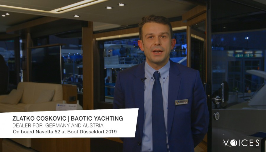 """THE ABSOLUTE VOICES"": AL BOOT DÜSSELDORF 2019 A BORDO DELLA NAVETTA 52 CON ZLATKO COSKOVIC DI BAOTIC YACHTING"
