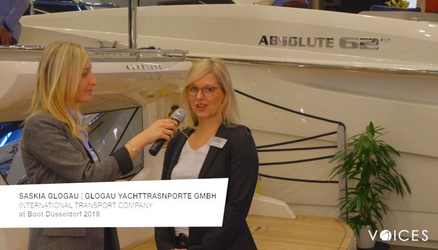 """THE ABSOLUTE VOICES"": AL BOOT DÜSSELDORF 2019 CON SASKIA GLOGAU DI Glogau Int. Yachttransporte GmbH"