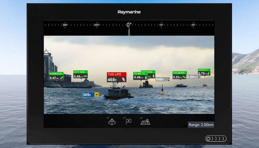 Realtà aumentata by Raymarine. Non una semplice telecamera.